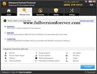 Advanced System Protector 2015 with Key full version