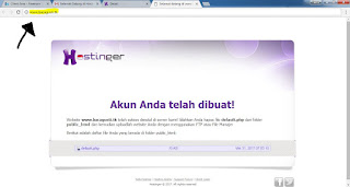 Tampilan Bawaan Indeks Hosting Gratis Hostinger
