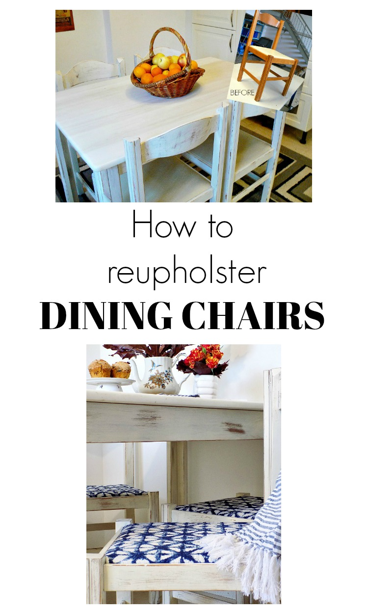 New upholstery for kitchen dining chairs
