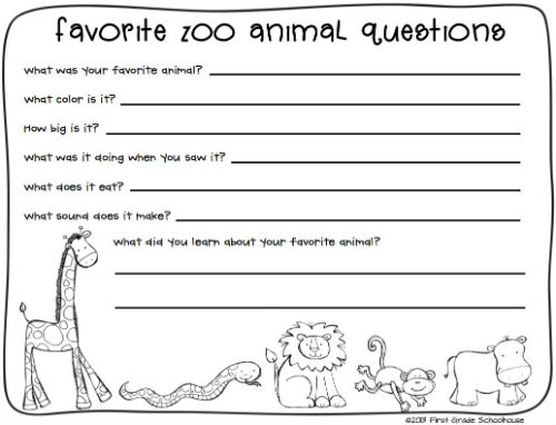 Our Teacher Asked What My Favorite Animal Was: Zoo Field Trip Printables
