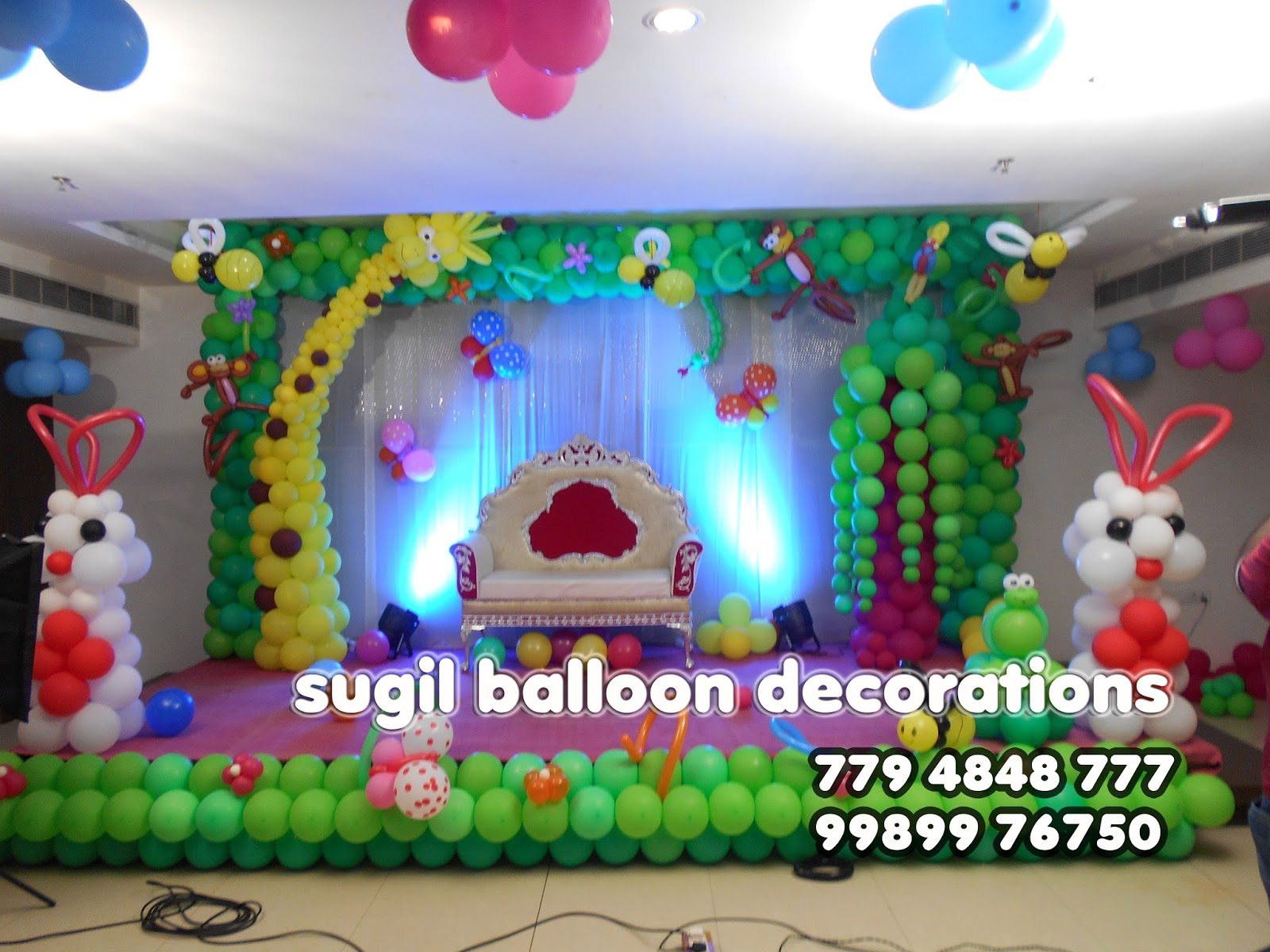 Sugil Balloon Decorations In Eluru