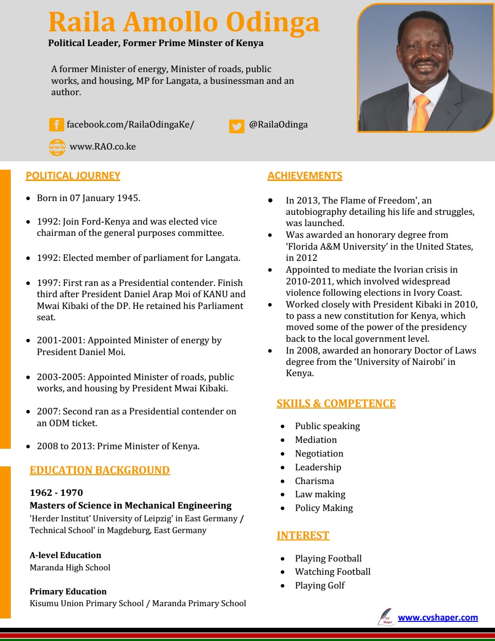 Cv Templates Kenya Cv Writing