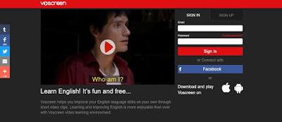internetten ingilizce öğrenme siteleri voscreen