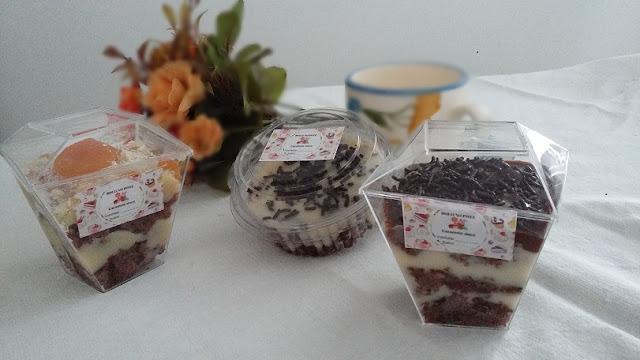 imagem de bolo no pote Caramelo doce