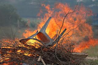 Burning a broken chair