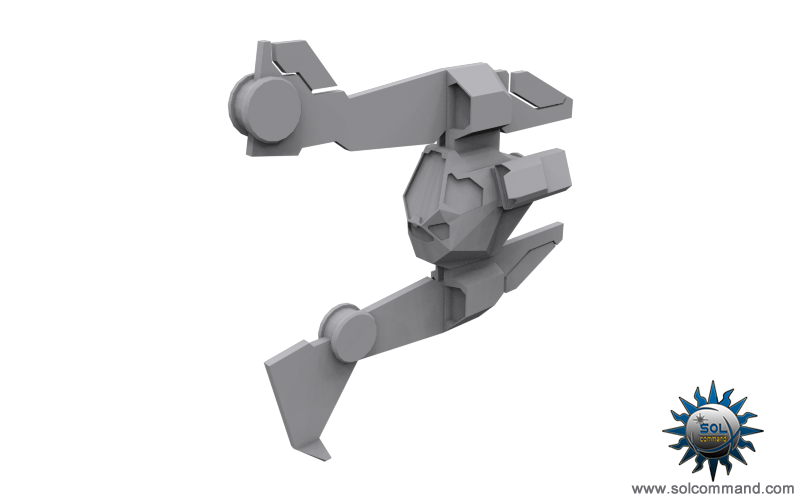 gasan f1 light fighter space ship fighting combat warcraft medium interceptor concept art low poly solcommand dominium pc game