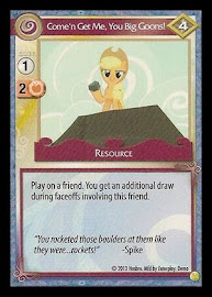 My Little Pony Come'n Get Me, You Big Goons! GenCon CCG Card