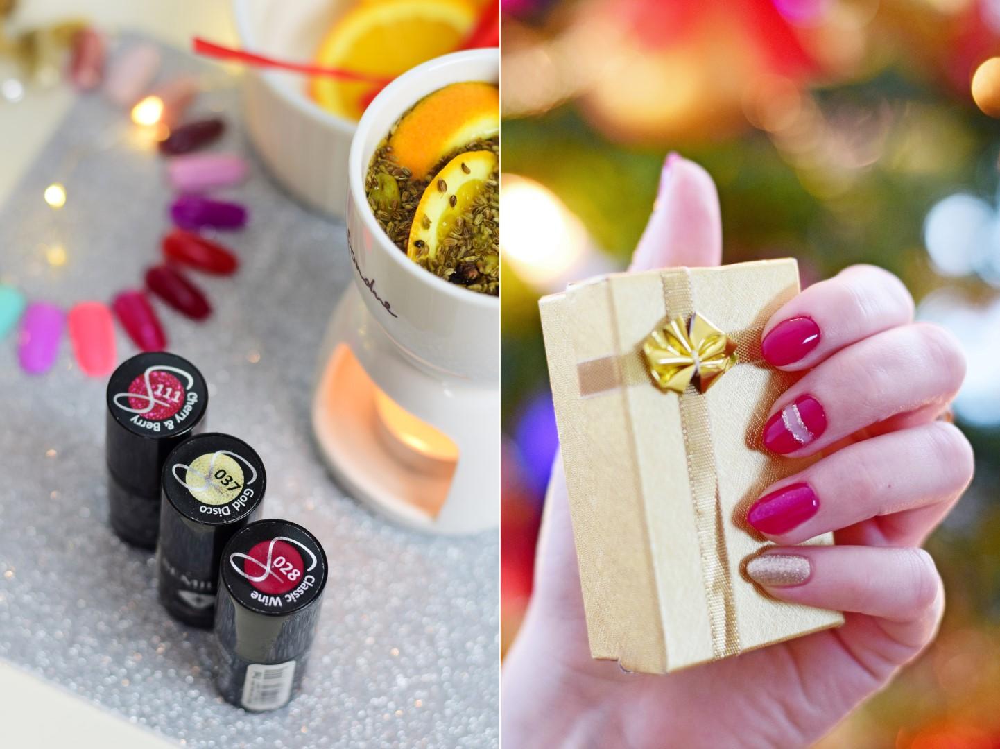 semilac_świąteczny_manicure_paznokcie_na_święta_pomysły_na_świąteczne_paznokcie_hybrydy_semilac_blog_classic_wine_cherry&berry_gold_disco
