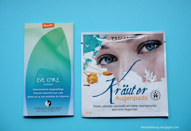 Augencreme und Augenpads