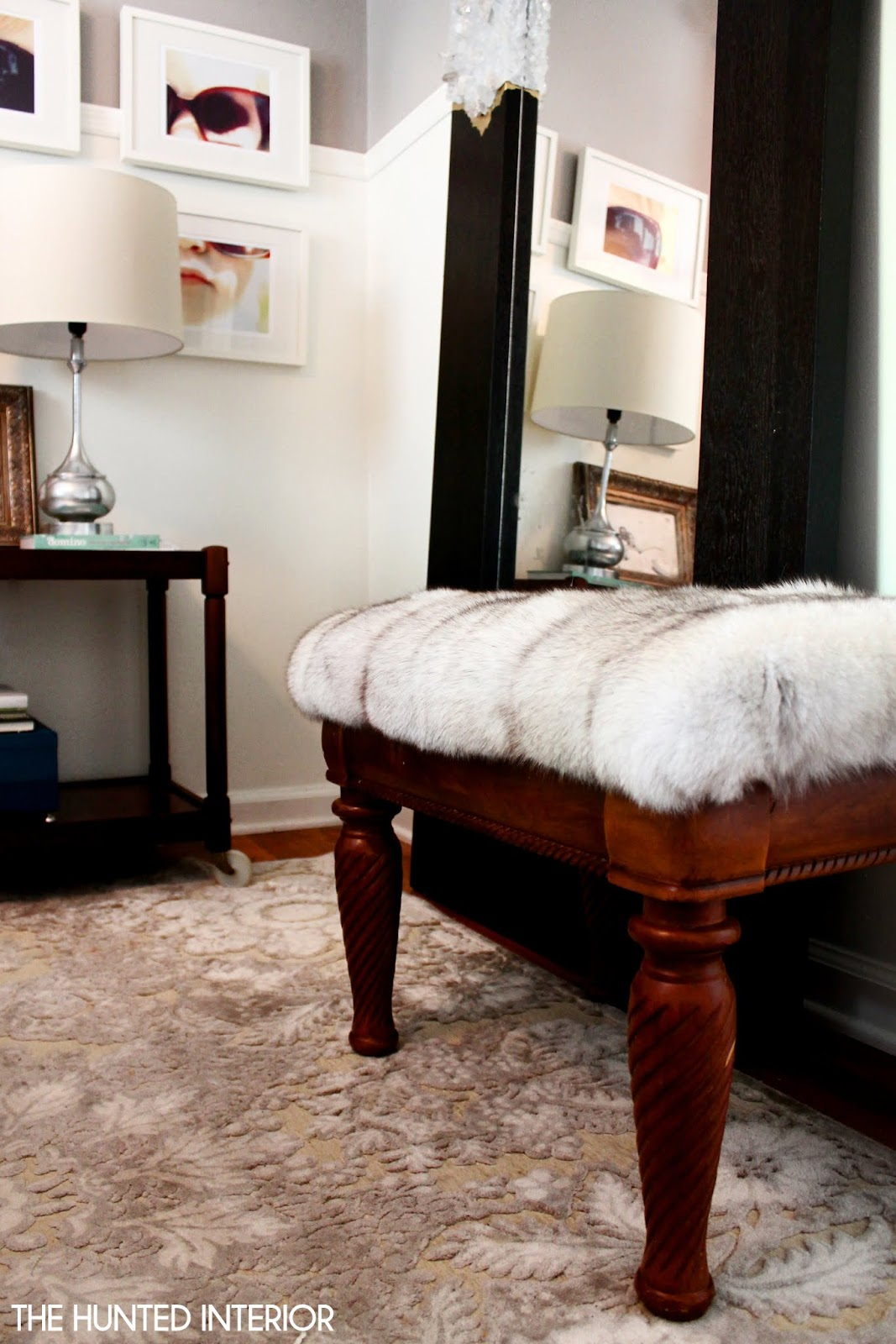 Hunted Interior: Fur Ottoman: Easiest Project Ever