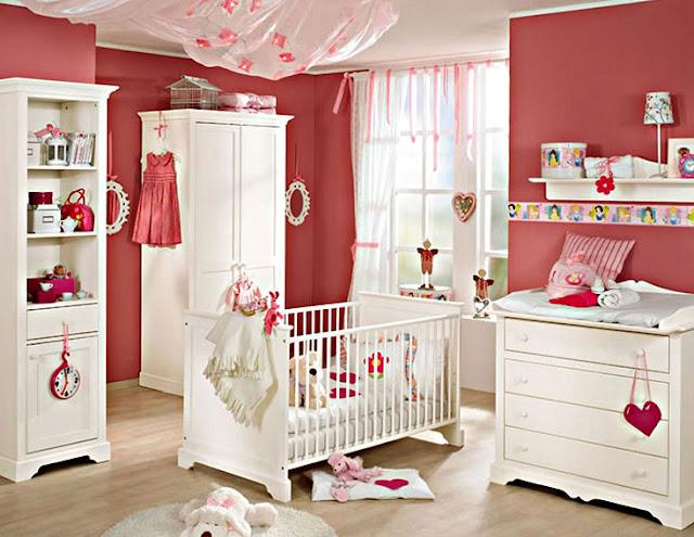 Desain Kamar Bayi Perempuan Minimalis