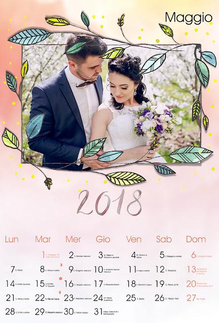 Calendario 2018 mensile con santi e lune
