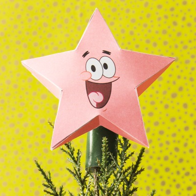 SpongeBob Papercraft: Patrick Tree Topper