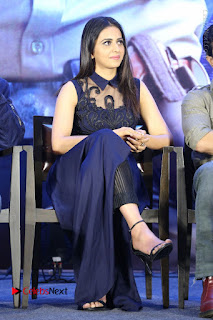 Actress Rakul Preet Singh Stills in Beautiful Blue Long Dress at Dhruva Salute to Audience Event  0077.JPG