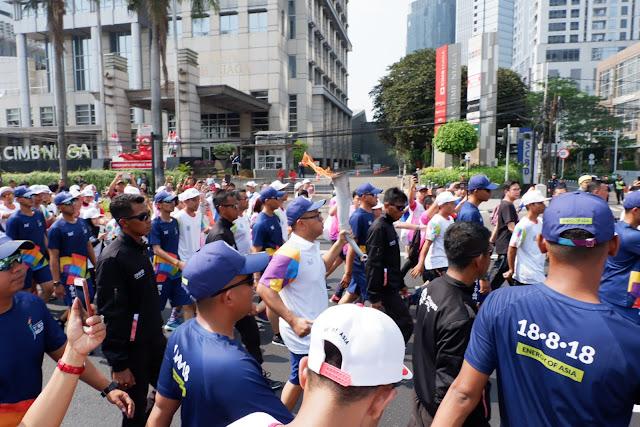 torch relay asian games 2018 jakarta bersama bank mandiri