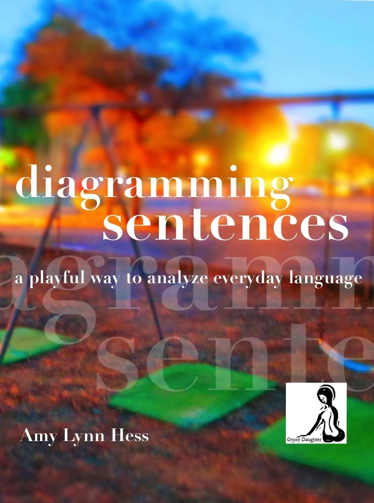 A bright and colorful playground as the cover to Diagramming Sentences by Amy Lynn Hess