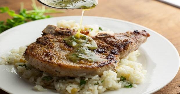 Pork Chops With Honey Lime Cilantro Sauce Recipe