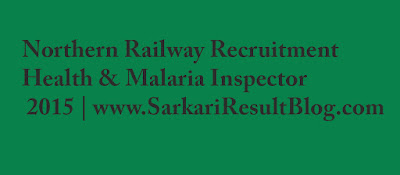 Northern Railway Recruitment 2015