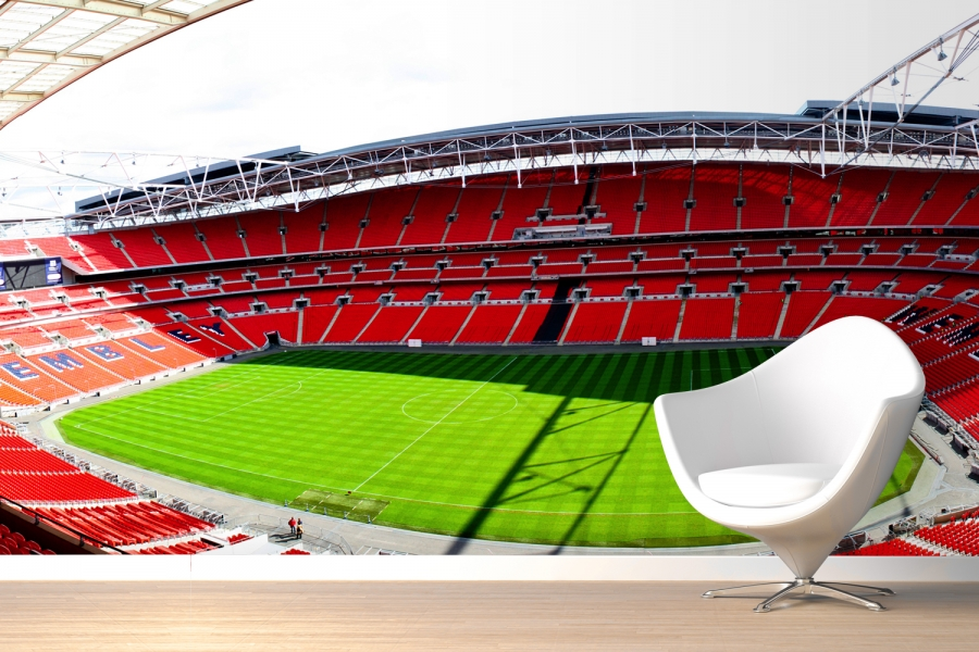 Football Stadium Wall Mural Football Soccer Photo: Mix And Chic: Giveaway- Murals Wallpaper Worth Up To $500