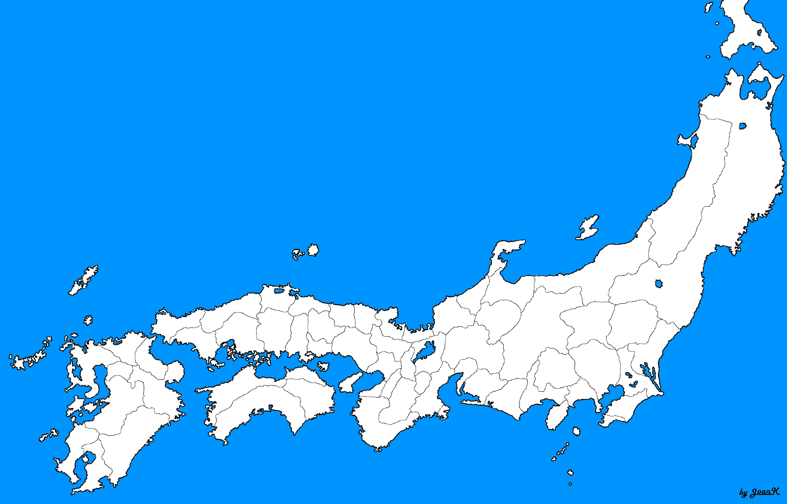 Japan Map Blank
