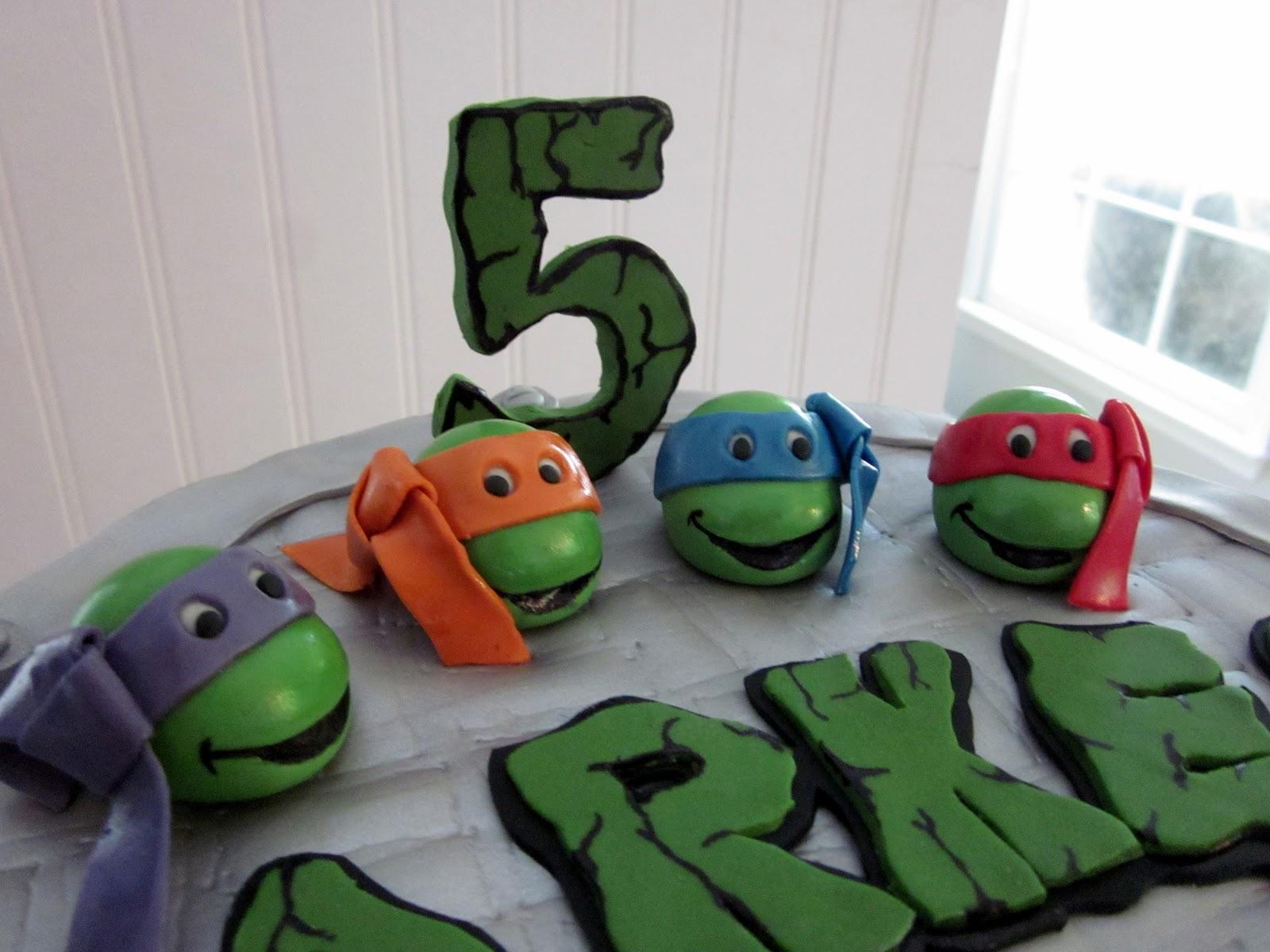 Darlin Designs Teenage Mutant Ninja Turtle Birthday Cake