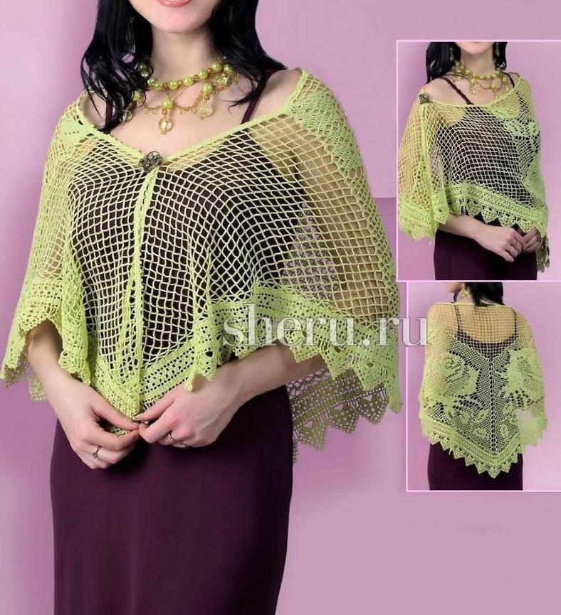 Crochet shawl pattern filet crochet