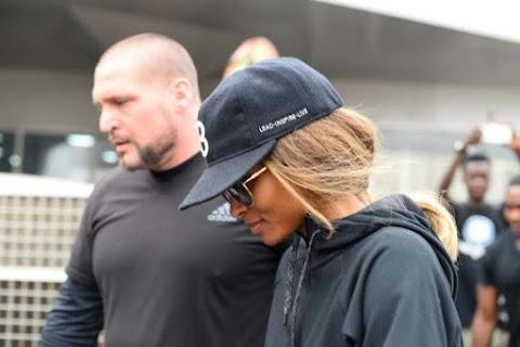 American Singer Ciara arrives Lagos .(Photos)