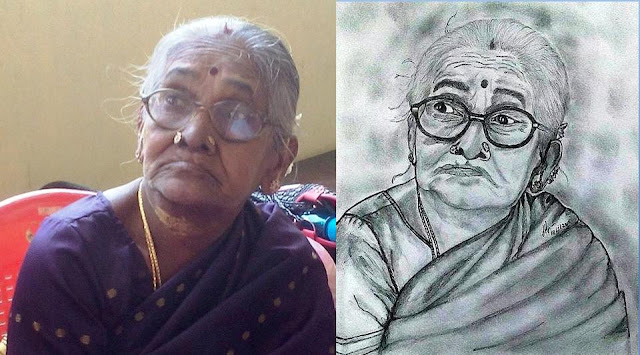 PENCIL DRAWING - KULANTHAI AMMA