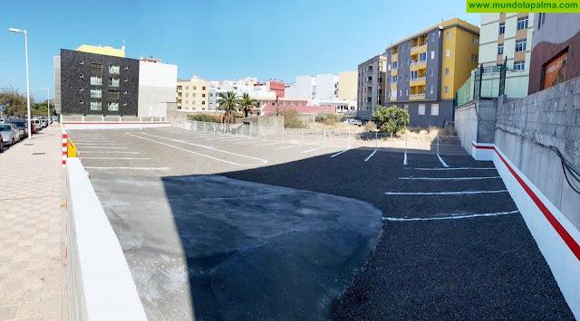 El Ayuntamiento de Los Llanos crea 40 nuevas plazas de aparcamiento gratuito en el Barranco Tenisca