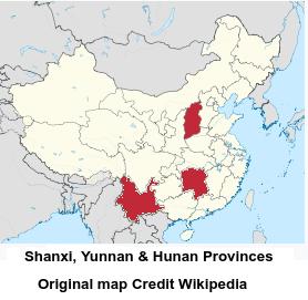 Hunan Province China Map.Avian Flu Diary China Moa Shanxi Hunan Yunnan Province Report