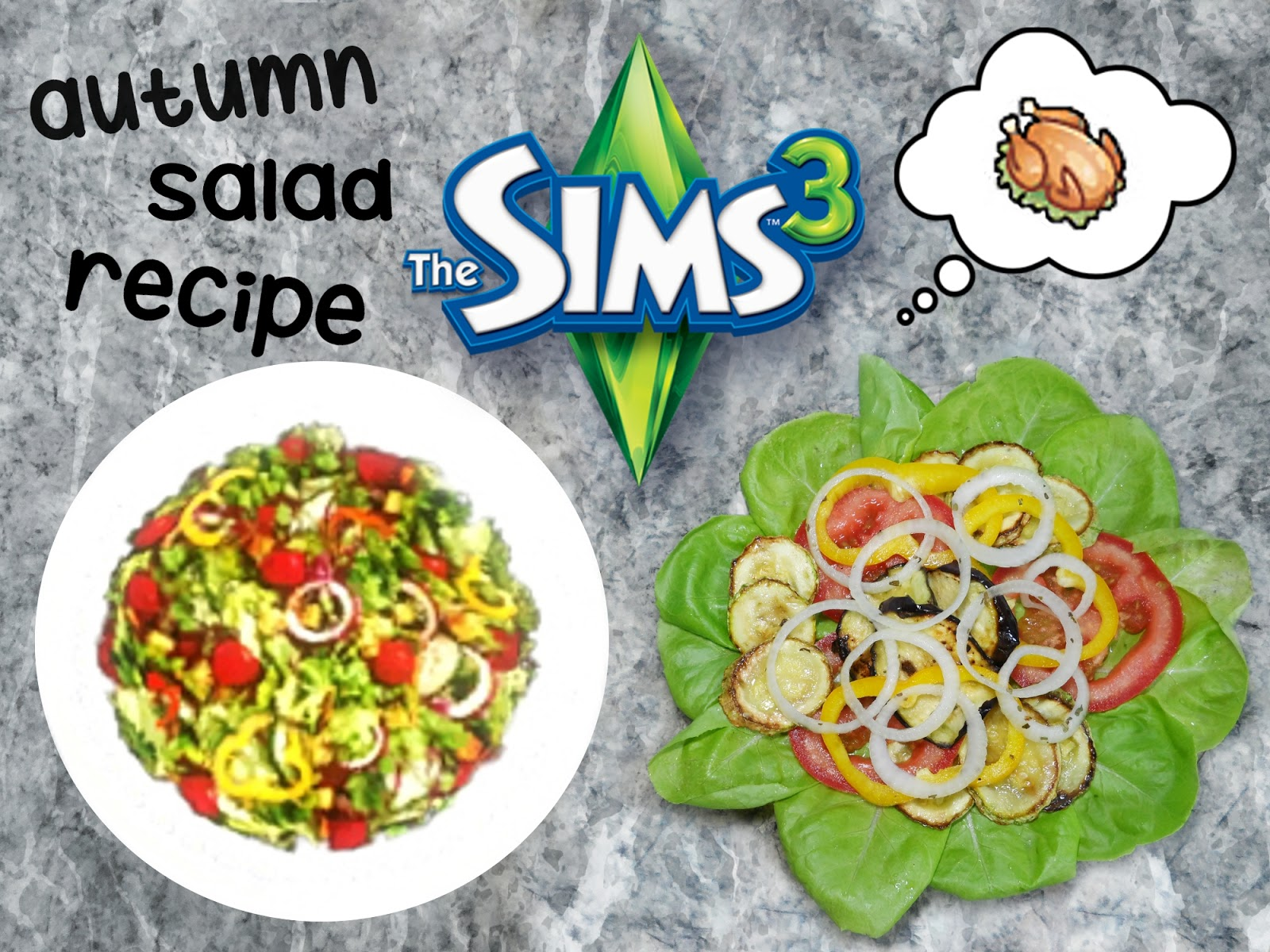 the sims in real life vegeterian vegan warm salad