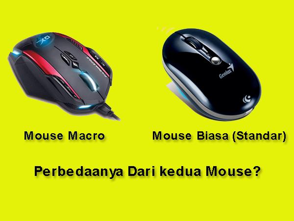 Perbedaan Mouse Macro dengan Mouse biasa