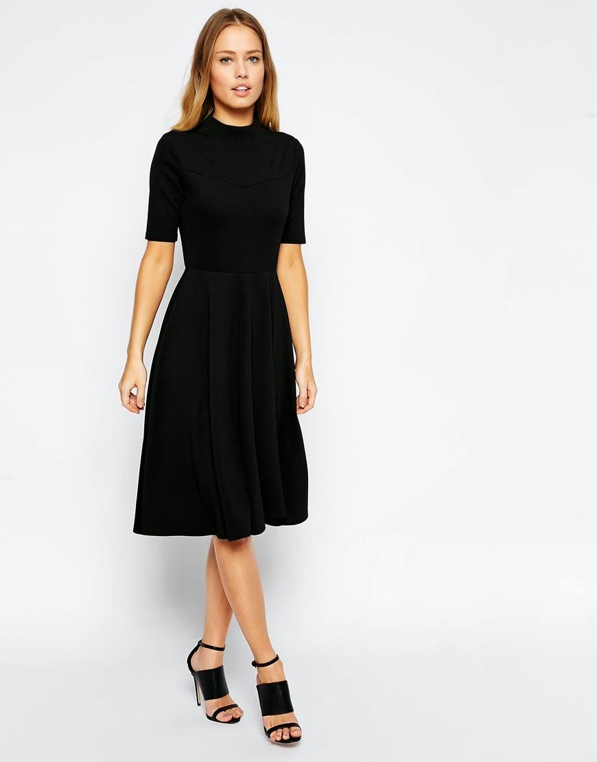 Mode-sty: Black Midi Dress Finds