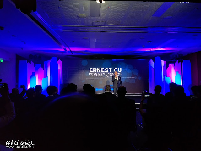 Ernest L. Cu, Globe President, and CEO.