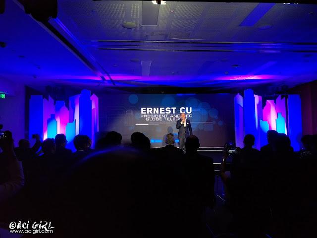 Ernest L. Cu, Globe President, and CEO.