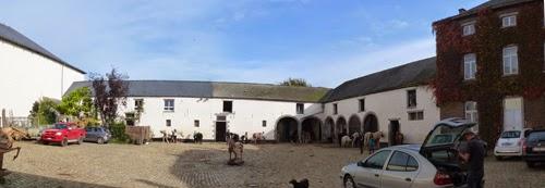 Papelotte Farm courtyard