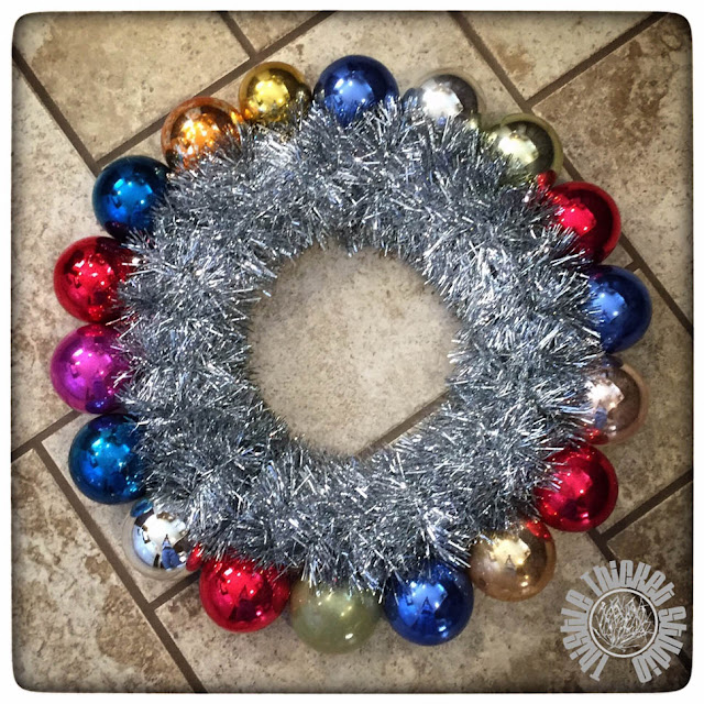 Vintage Ornament Wreath Tutorial by Thistle Thicket Studio. www.thistlethicketstudio.com