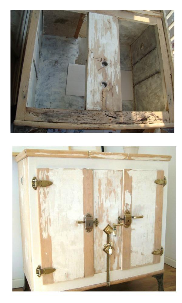 Comprar muebles vintage restaurados decoración nórdica madera decapada, flores