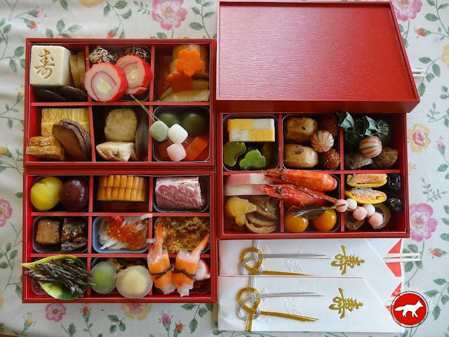 bento traditionnel pour passer le jour de l'an au Japon