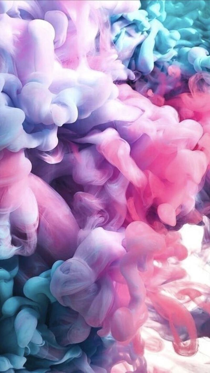 Nuvens de fumaça coloridas para celular