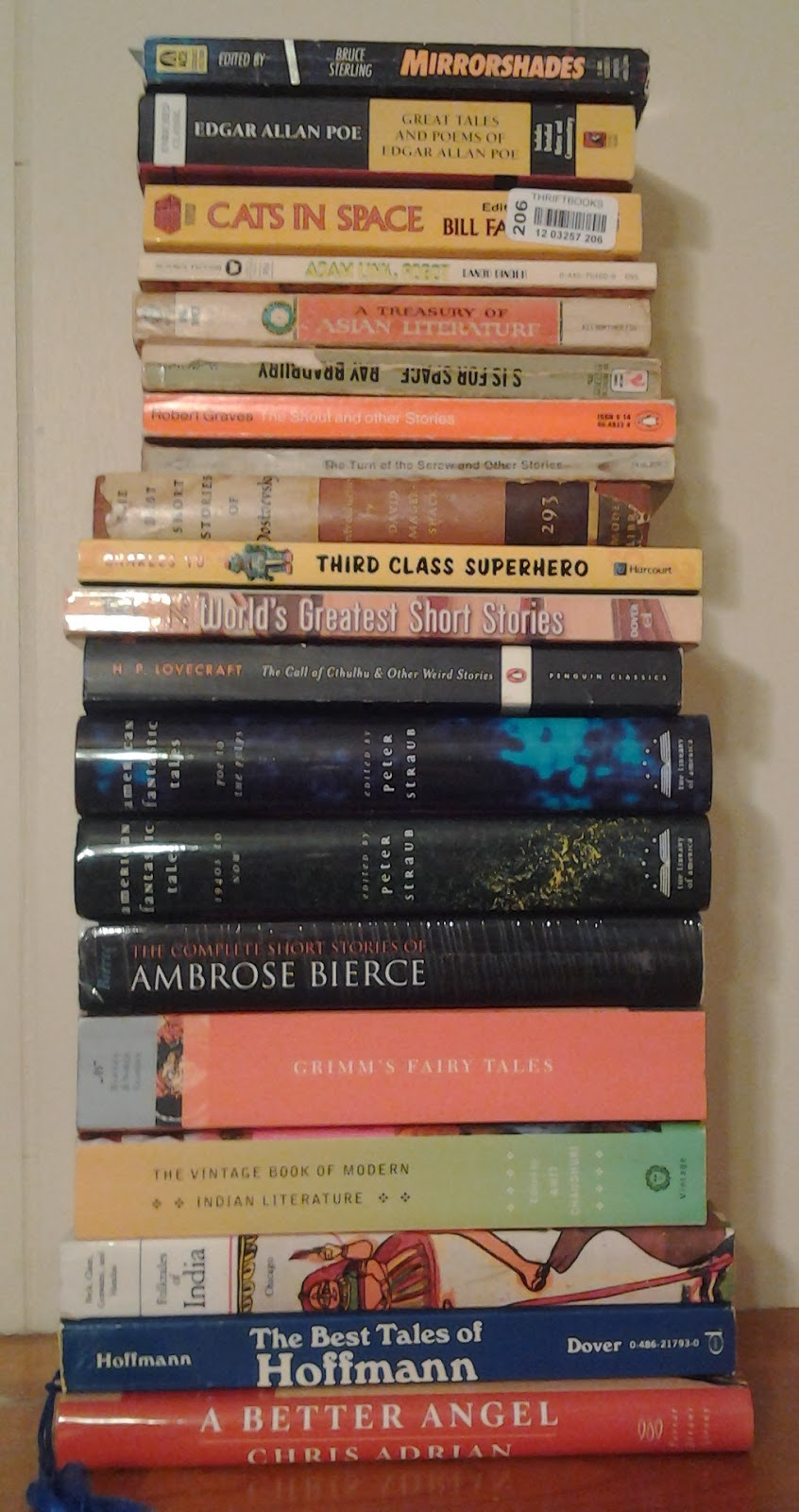 Stack 2 of anthologies to read this year.