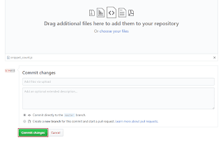 Commit changes - GitHub