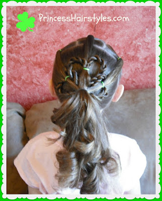 St. Patrick's Day hairstyles, Shamrock or clover tutorial