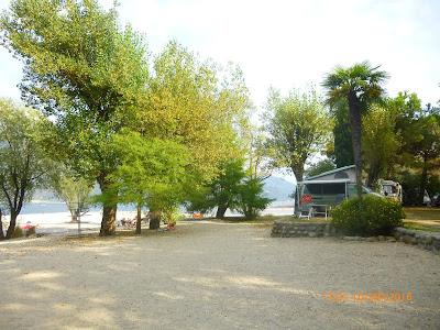 auf dem Campingplatz Riviera am Lago Maggiore