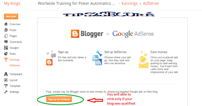 how to start adsense monetization