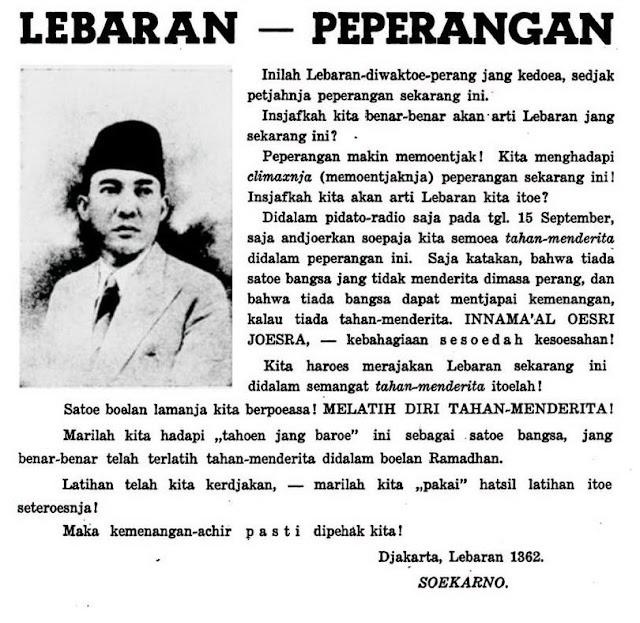 Soekarno, Ramadan dan Idul Fitri