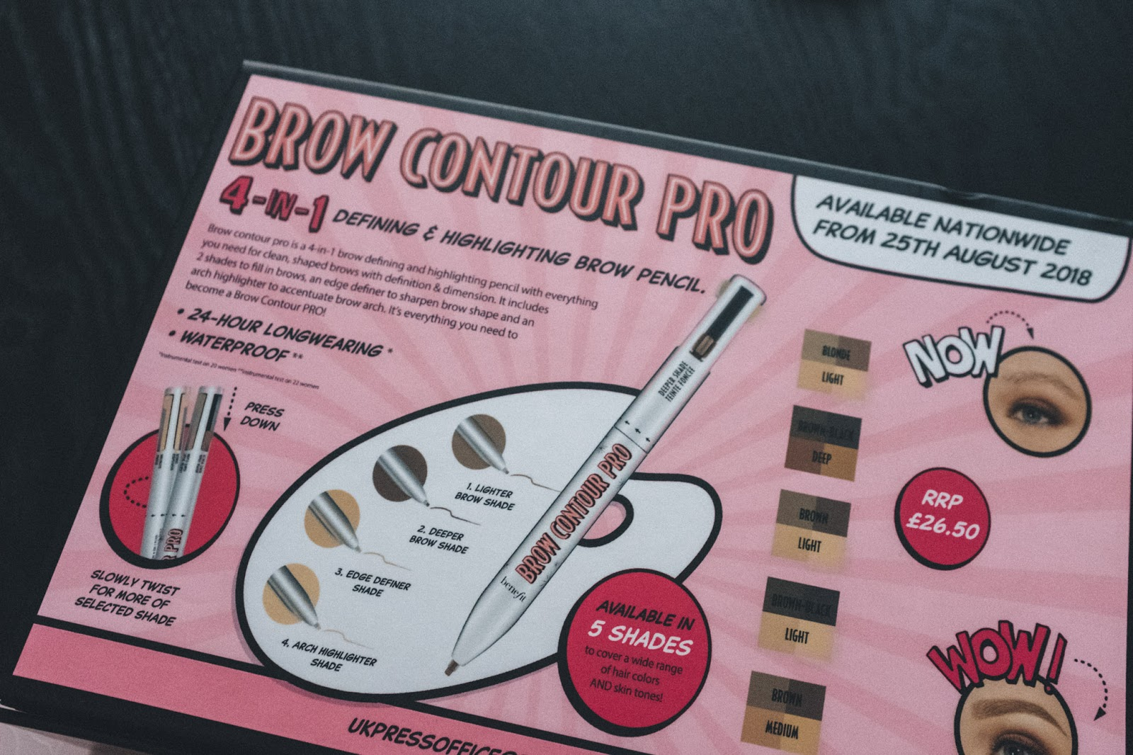 Benefit Brow Contour Pro blogger review swatches.jpg