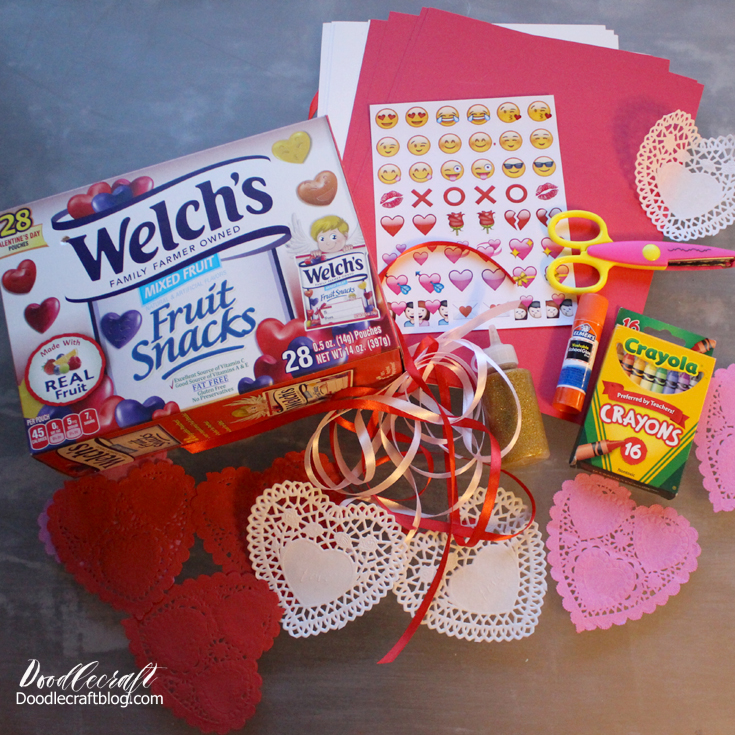 welchs fruit snacks and handmade valentines