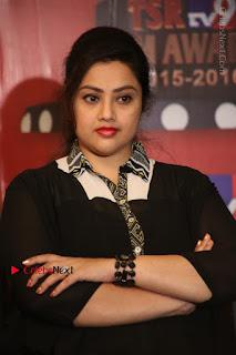 Tamil Actress Meena Latest Stills in Black Dress at TSR TV9 Awards Press Meet  0104.JPG