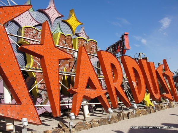 Stardust casino sign at The Neon Museum in Las Vegas, Nevada